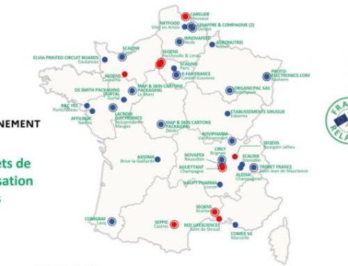 La carte de France des 31 premiers projets de relocalisation du plan de relance